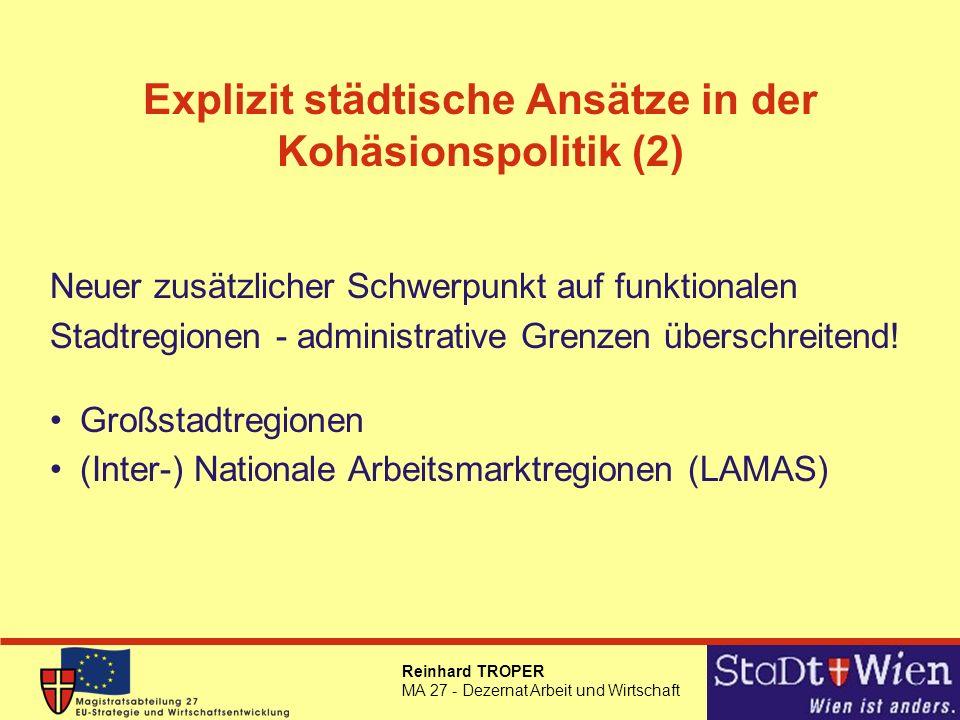 Explizit städtische Ansätze in der Kohäsionspolitik (2)