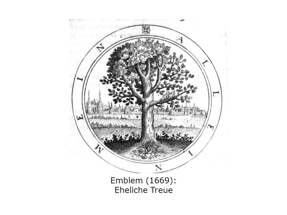 Emblem (1669): Eheliche Treue