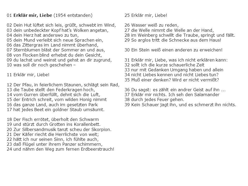01 Erklär mir, Liebe (1954 entstanden)