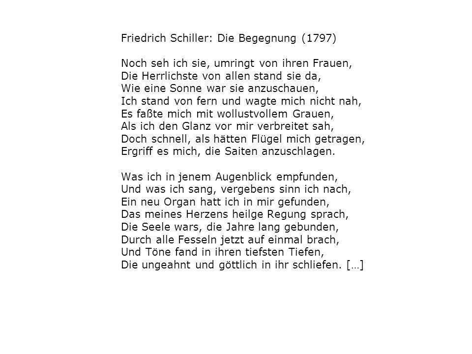 Friedrich Schiller: Die Begegnung (1797)