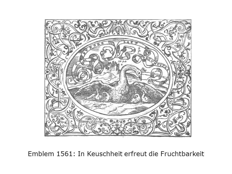 Emblem 1561: In Keuschheit erfreut die Fruchtbarkeit