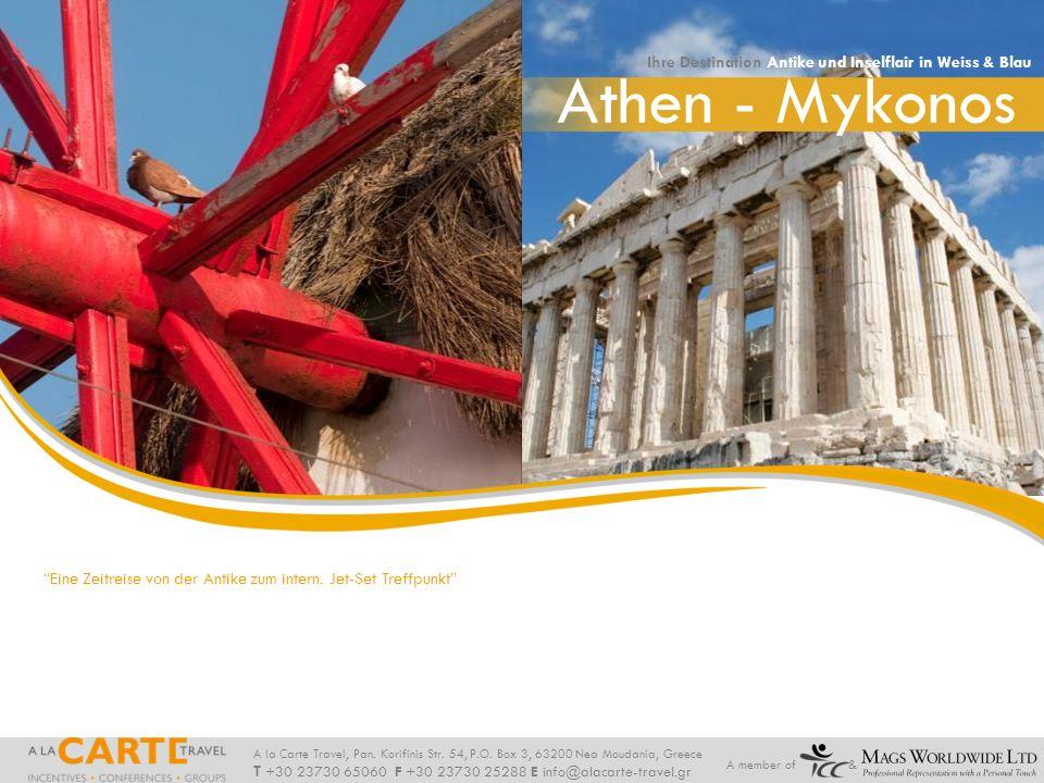 Athen - Mykonos Ihre Destination Antike und Inselflair in Weiss & Blau