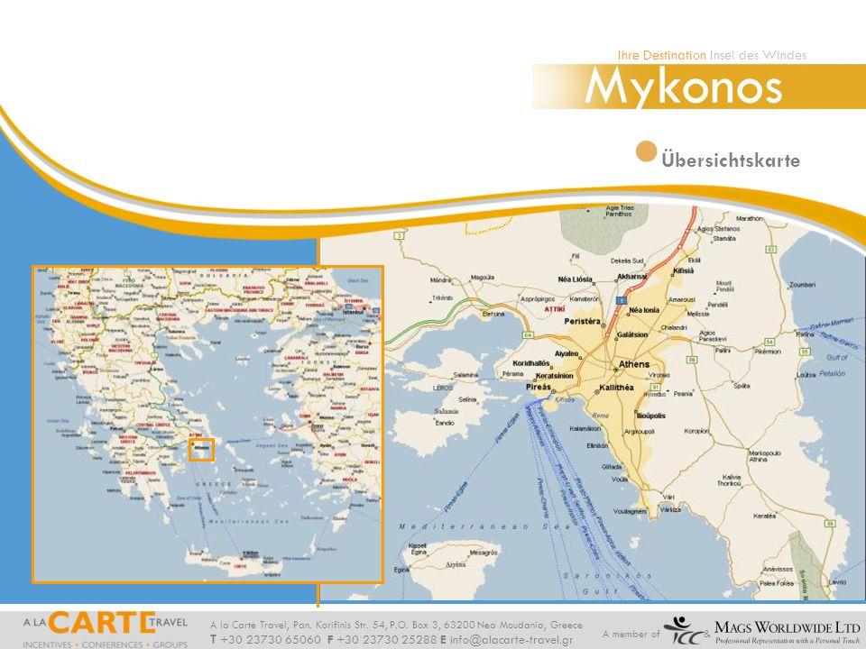 Mykonos Ihre Destination Insel des Windes Athen Übersichtskarte