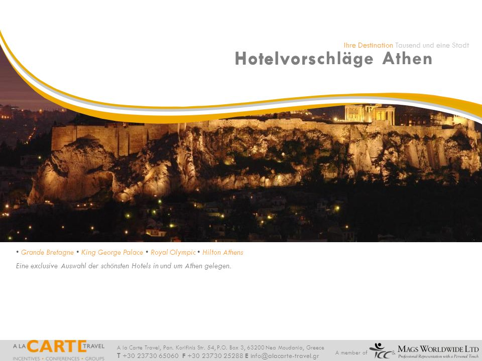 Hotelvorschläge Athen Hotelvorschläge Athen