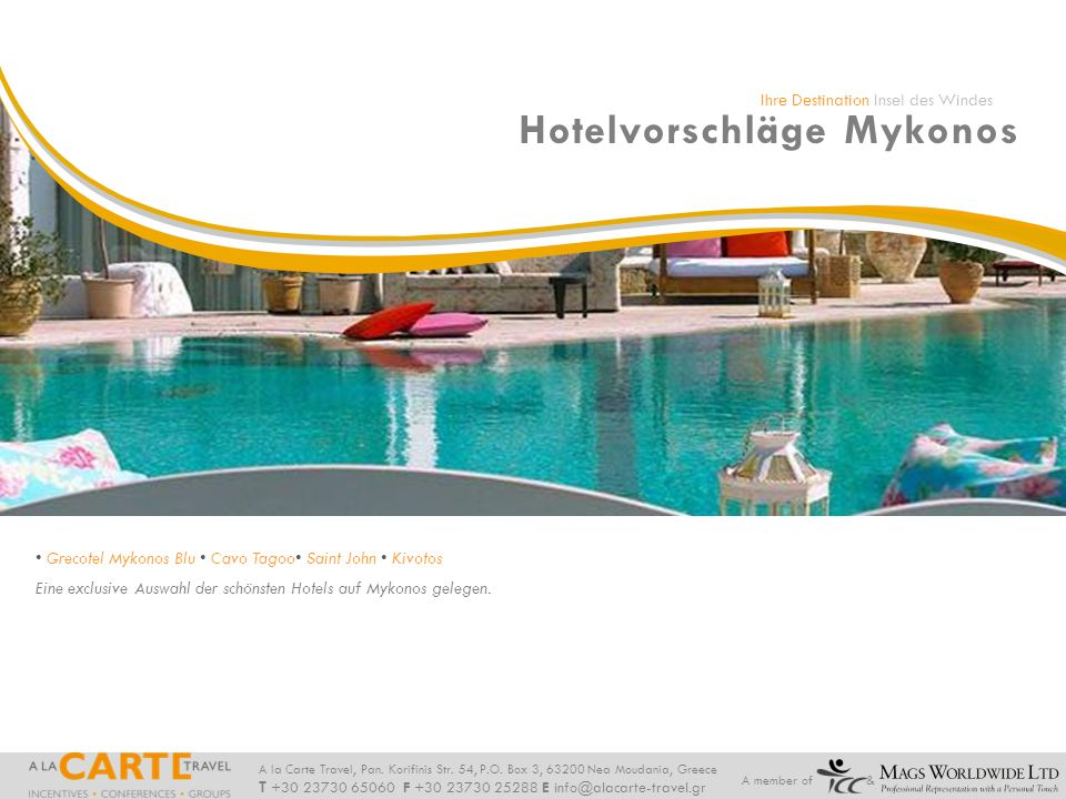 Hotelvorschläge Mykonos