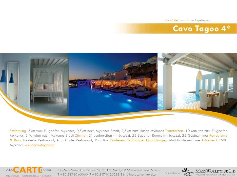 Cavo Tagoo 4* Ihr Hotel am Strand gelegen