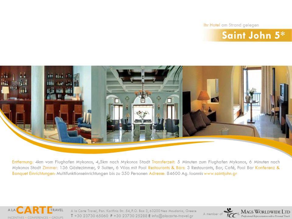 Saint John 5* Ihr Hotel am Strand gelegen