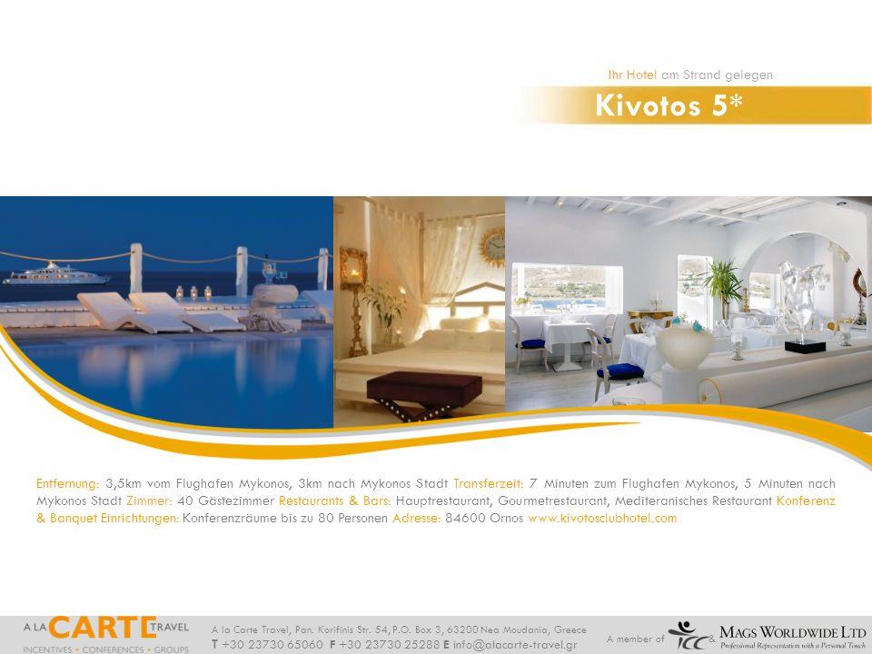 Kivotos 5* Ihr Hotel am Strand gelegen