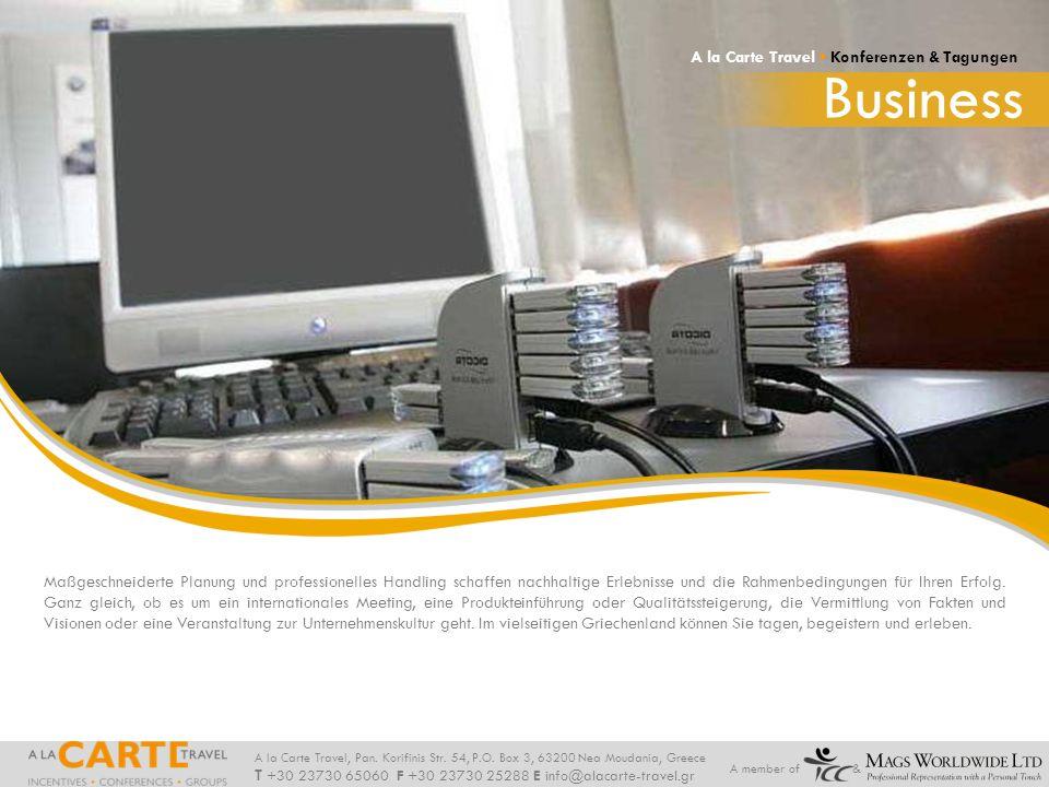 Business A la Carte Travel • Konferenzen & Tagungen
