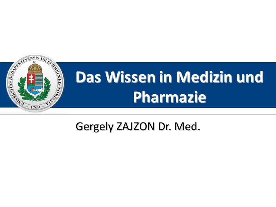 Das Wissen in Medizin und Pharmazie
