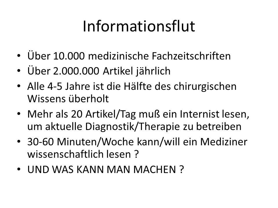 Informationsflut Über 10.000 medizinische Fachzeitschriften