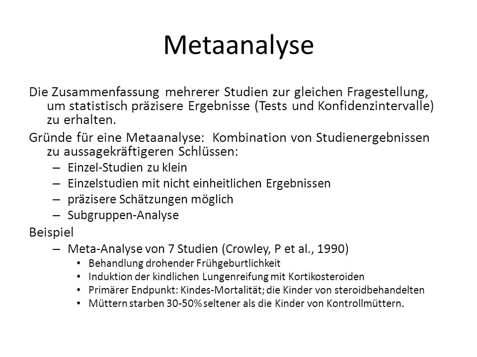 Metaanalyse