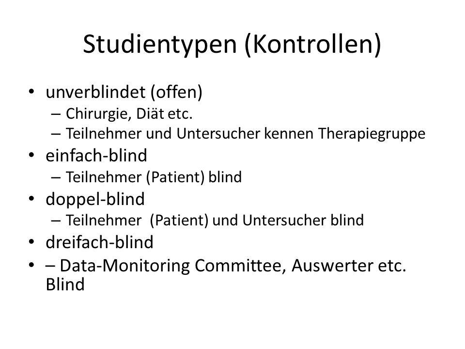 Studientypen (Kontrollen)