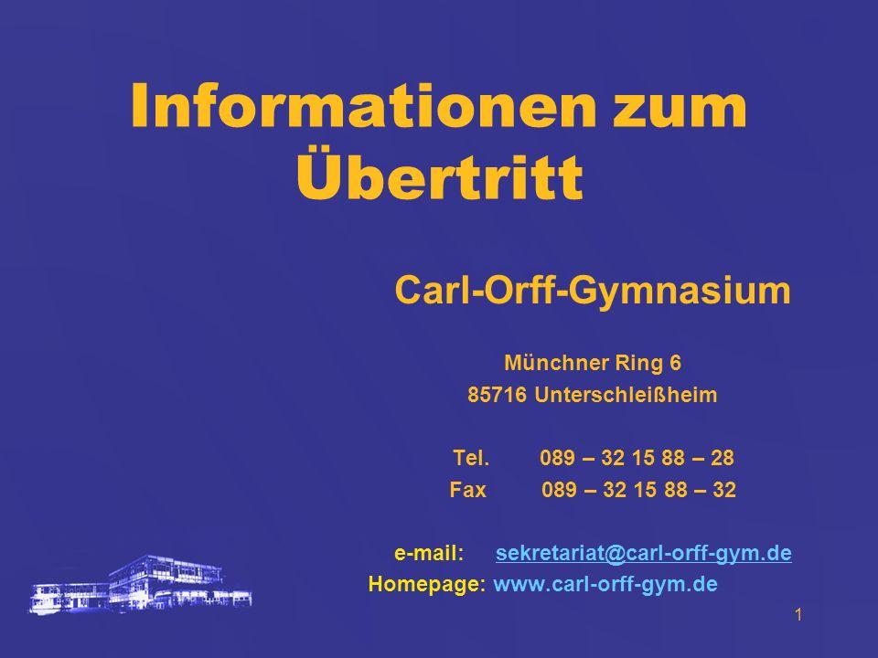 Informationen zum Übertritt