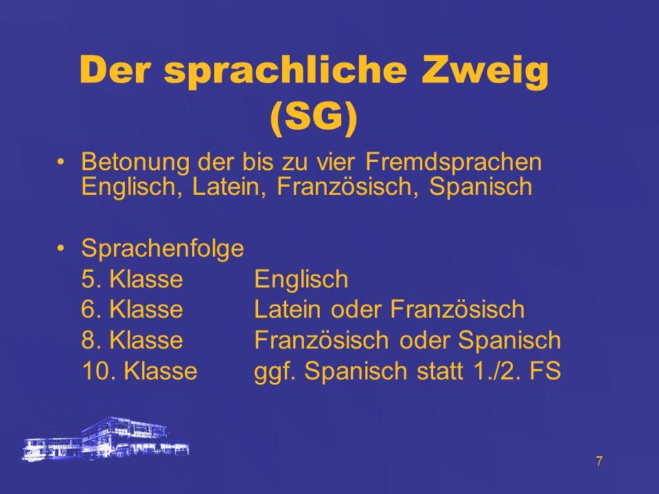 Der sprachliche Zweig (SG)