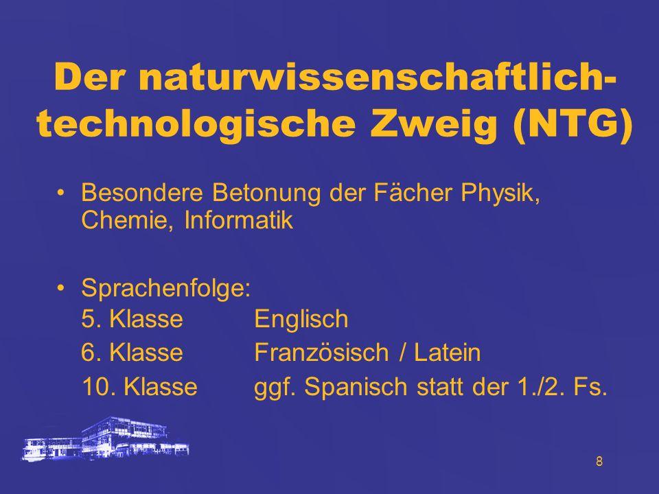 Der naturwissenschaftlich-technologische Zweig (NTG)