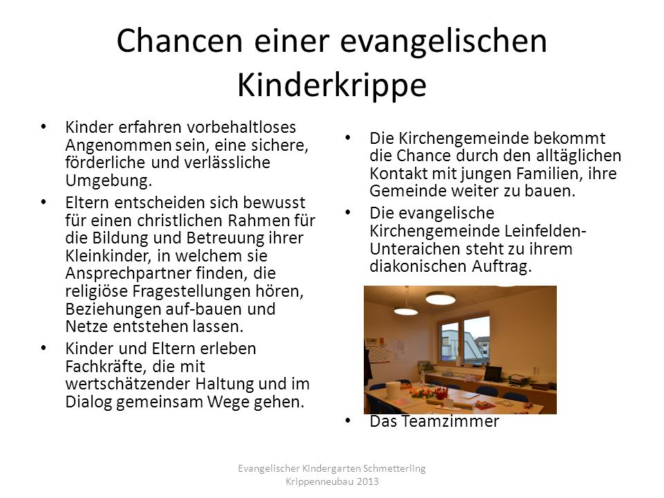 Chancen einer evangelischen Kinderkrippe
