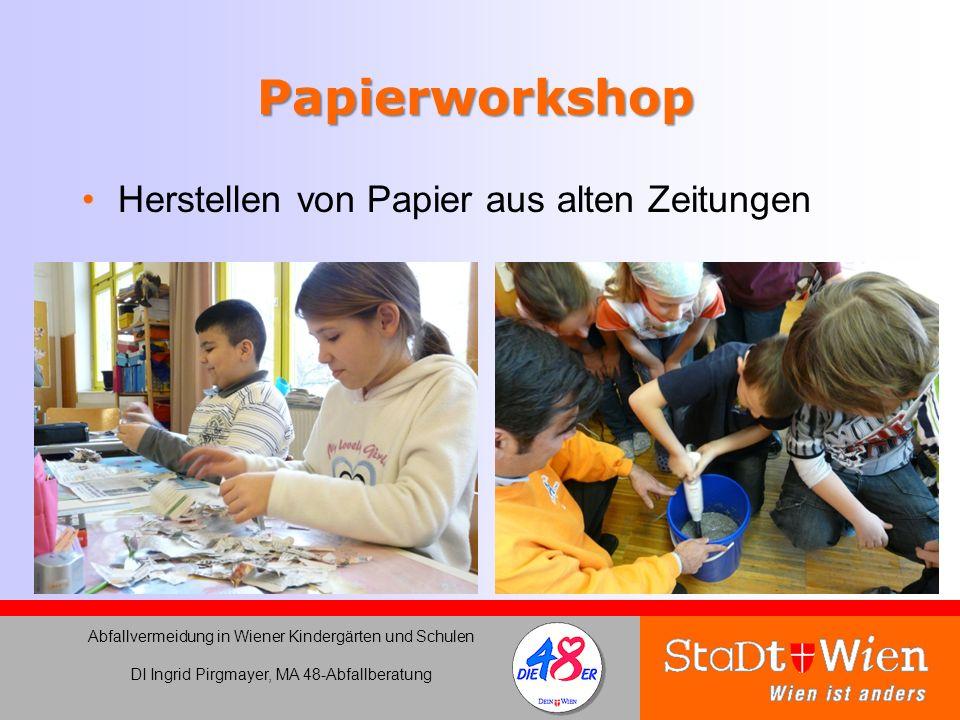 Papierworkshop Herstellen von Papier aus alten Zeitungen