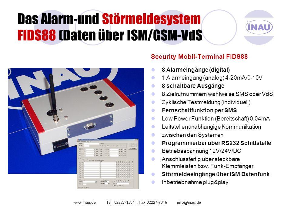 Das Alarm-und Störmeldesystem FIDS88 (Daten über ISM/GSM-VdS