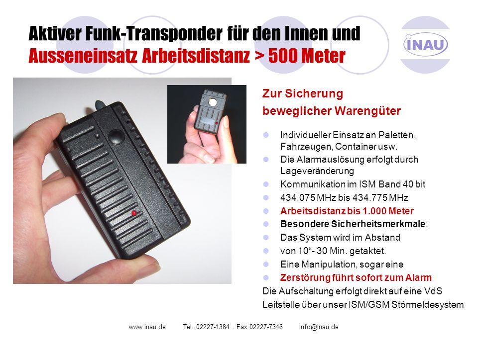 Aktiver Funk-Transponder für den Innen und Ausseneinsatz Arbeitsdistanz > 500 Meter