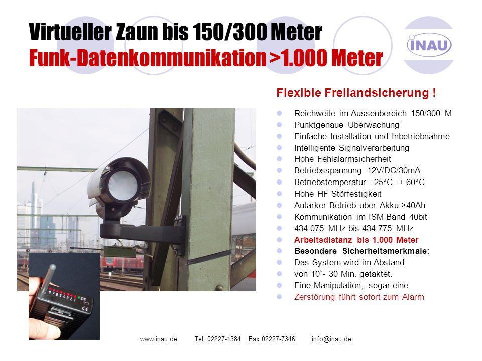 Virtueller Zaun bis 150/300 Meter Funk-Datenkommunikation >1