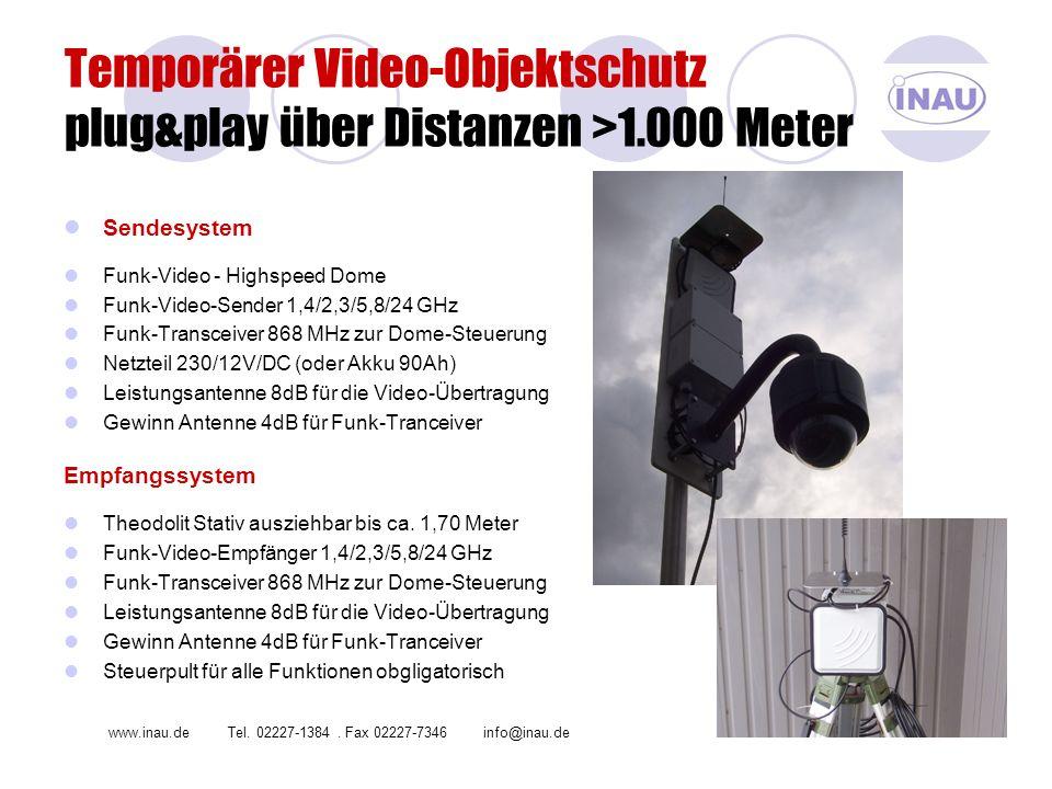 Temporärer Video-Objektschutz plug&play über Distanzen >1.000 Meter