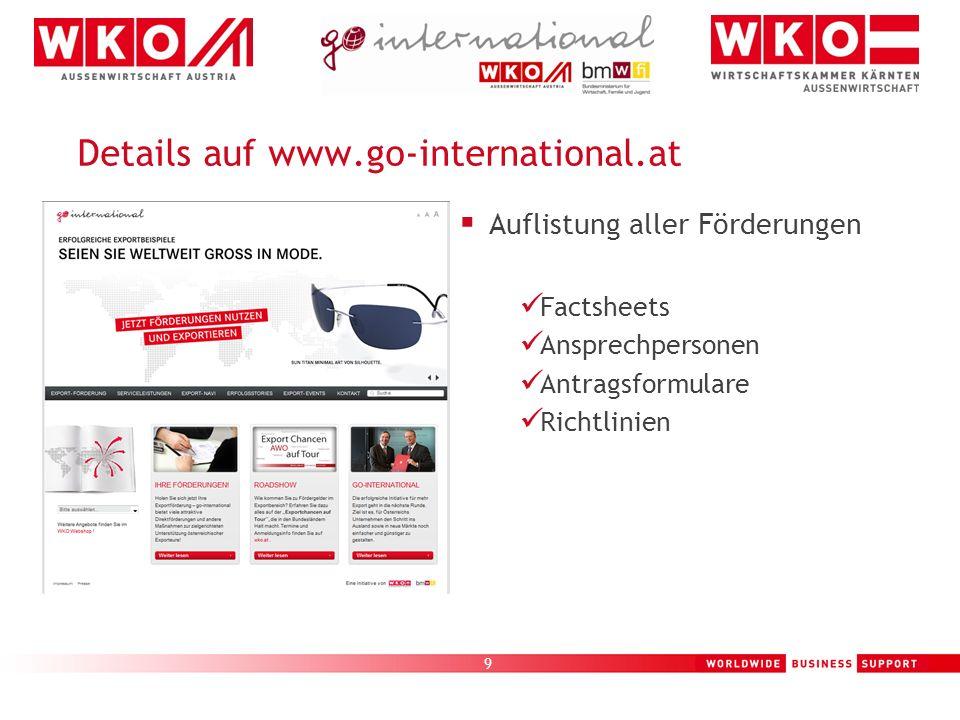 Details auf www.go-international.at