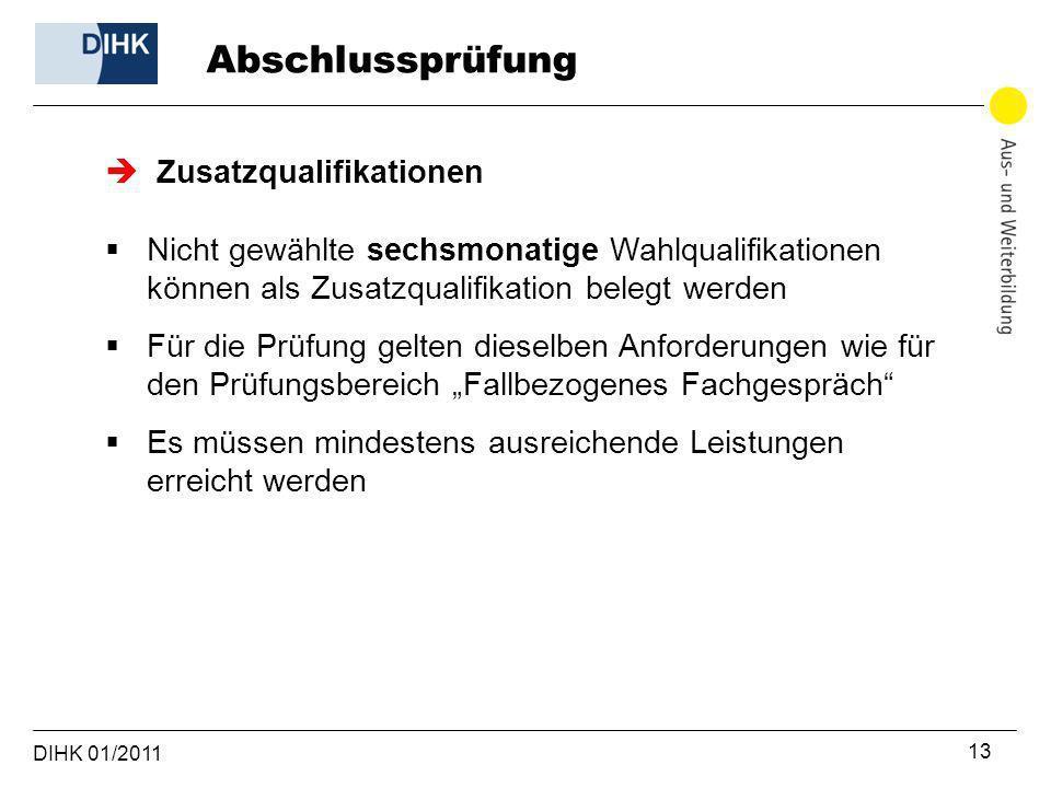 Abschlussprüfung Zusatzqualifikationen