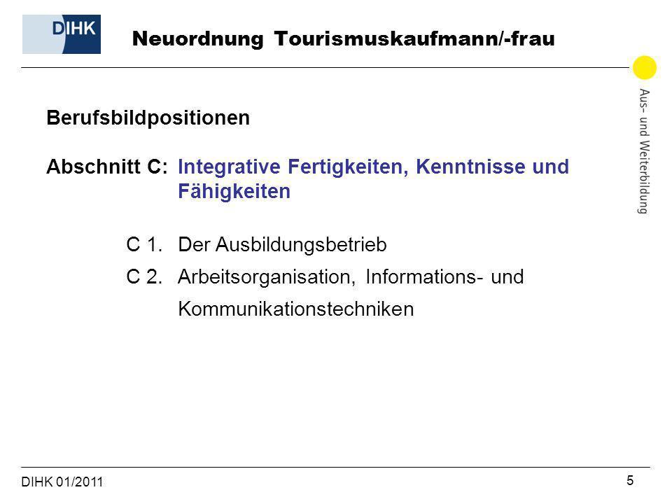 Neuordnung Tourismuskaufmann/-frau