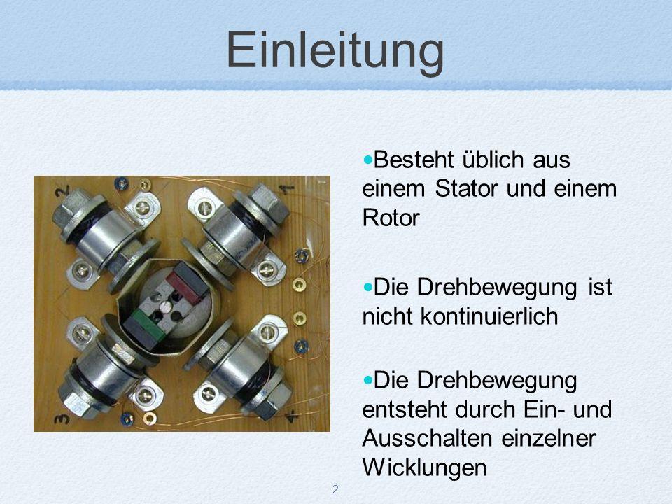 Einleitung Besteht üblich aus einem Stator und einem Rotor