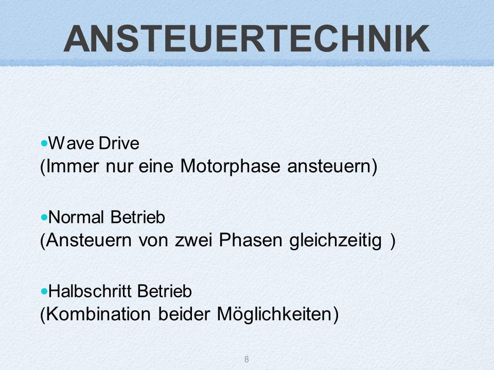ANSTEUERTECHNIK Wave Drive (Immer nur eine Motorphase ansteuern)