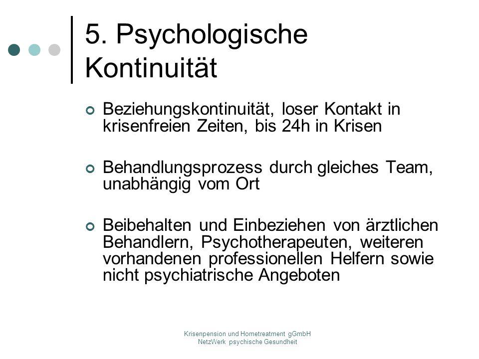 5. Psychologische Kontinuität