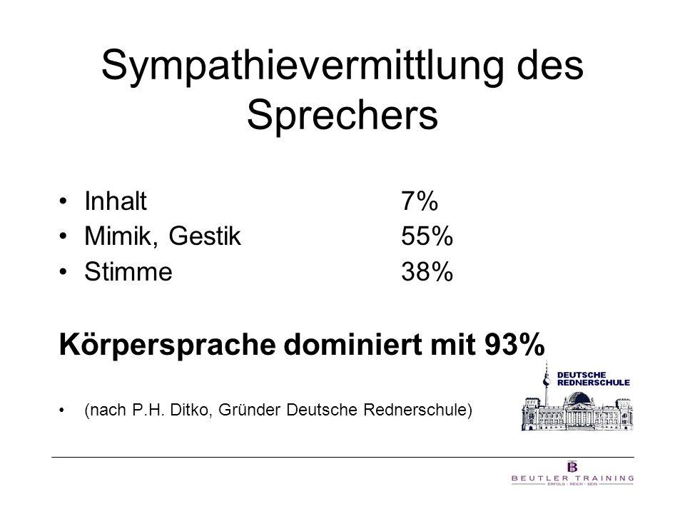 Sympathievermittlung des Sprechers