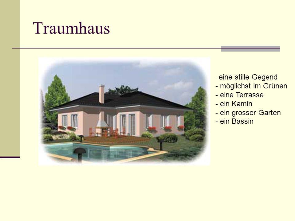 Traumhaus möglichst im Grünen eine Terrasse ein Kamin