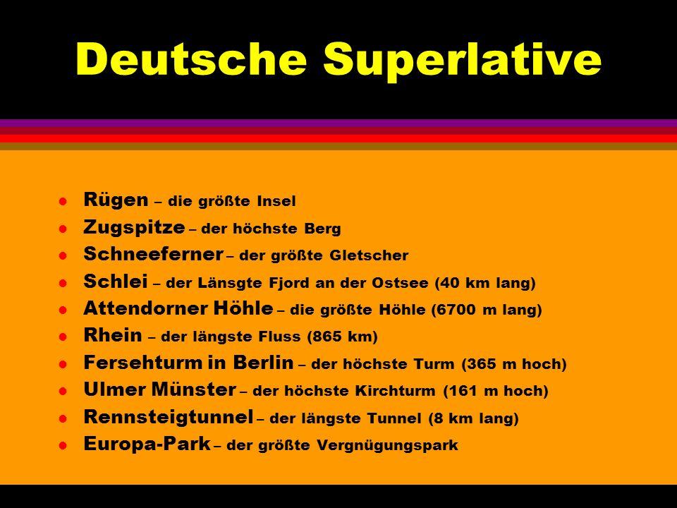 Deutsche Superlative Rügen – die größte Insel