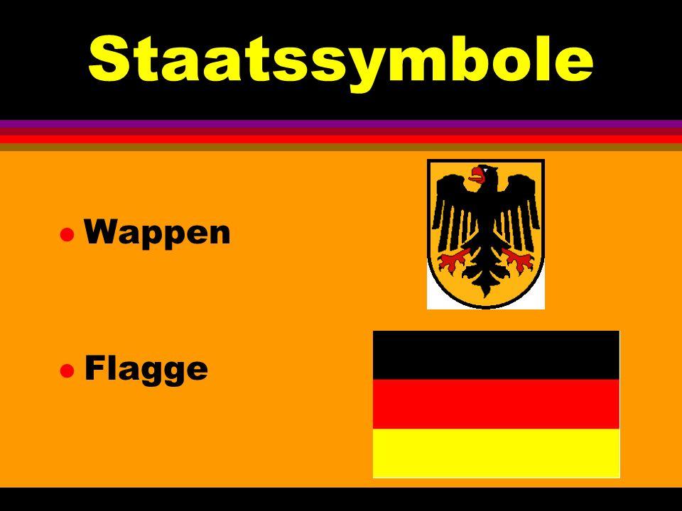 Staatssymbole Wappen Flagge