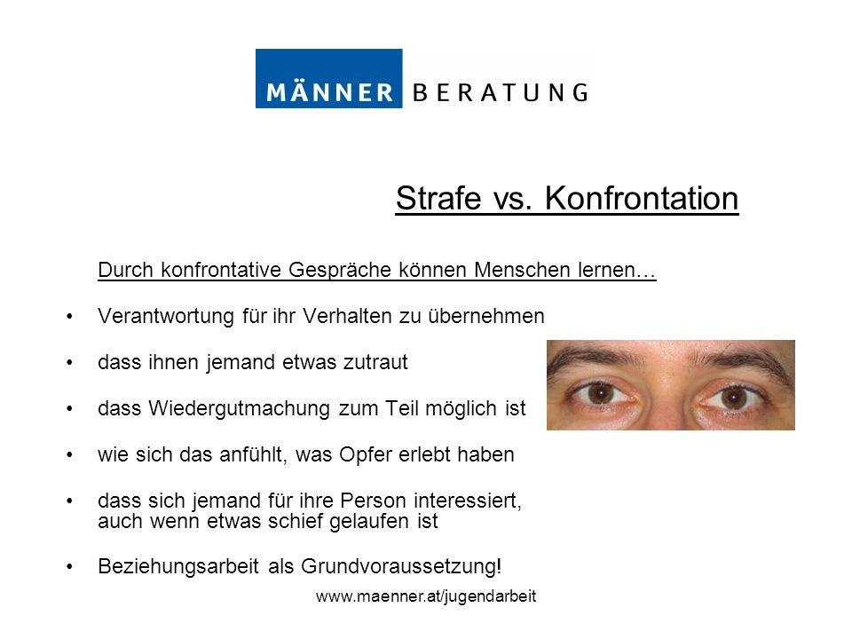 Strafe vs. Konfrontation