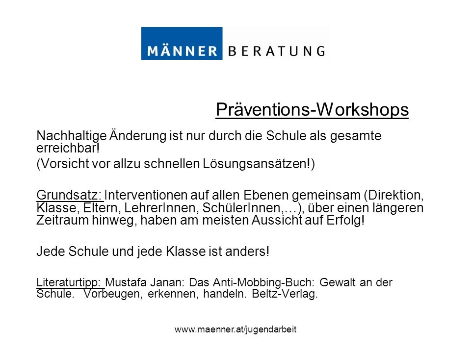 Präventions-Workshops