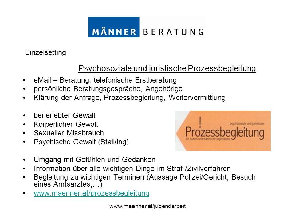 Psychosoziale und juristische Prozessbegleitung