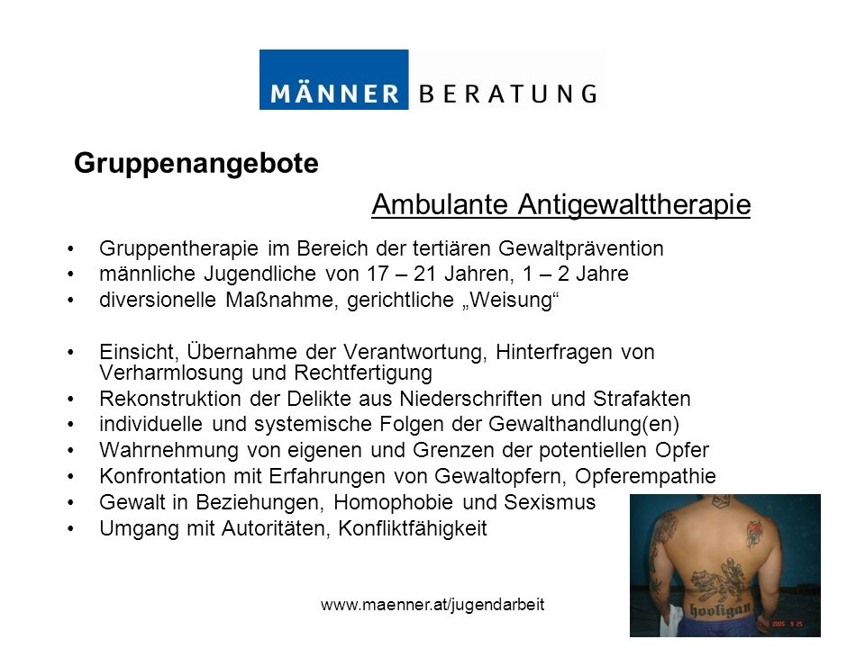 Ambulante Antigewalttherapie