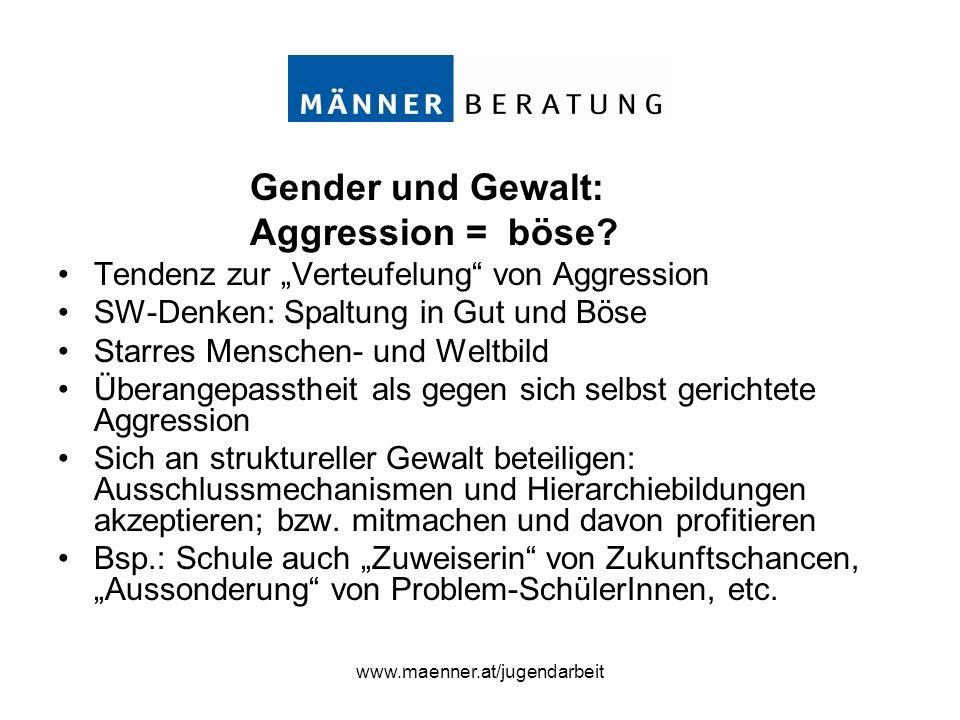 Gender und Gewalt: Aggression = böse