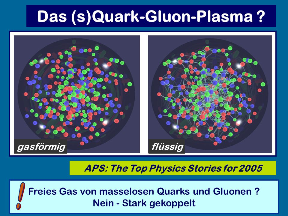 Das (s)Quark-Gluon-Plasma APS: The Top Physics Stories for 2005
