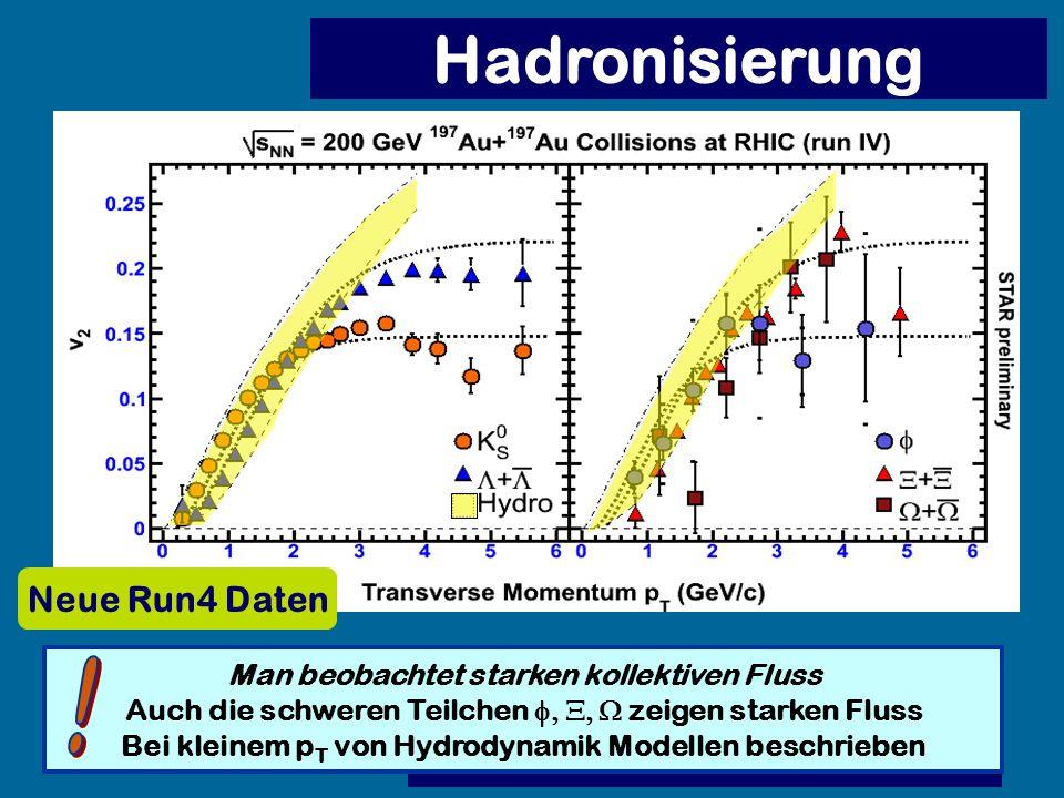 Hadronisierung ! Neue Run4 Daten