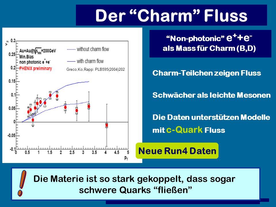 Der Charm Fluss ! Neue Run4 Daten