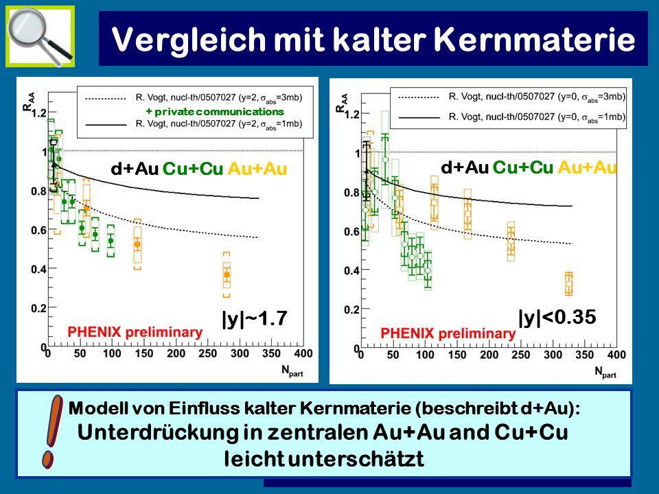 Vergleich mit kalter Kernmaterie