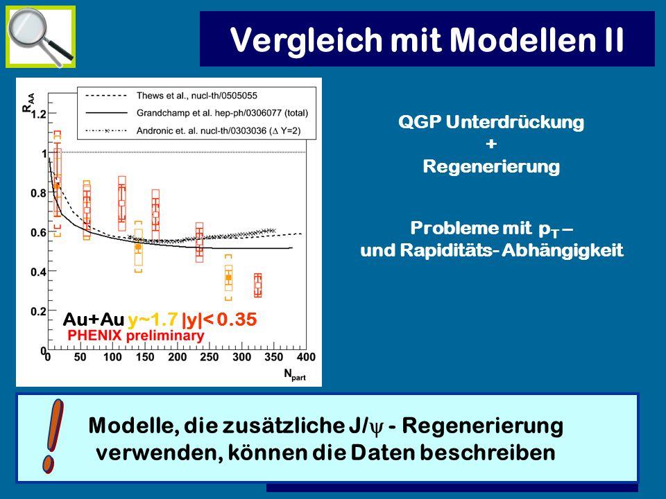 Vergleich mit Modellen II !