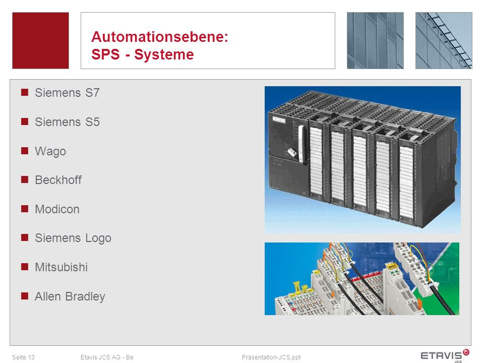 Automationsebene: SPS - Systeme