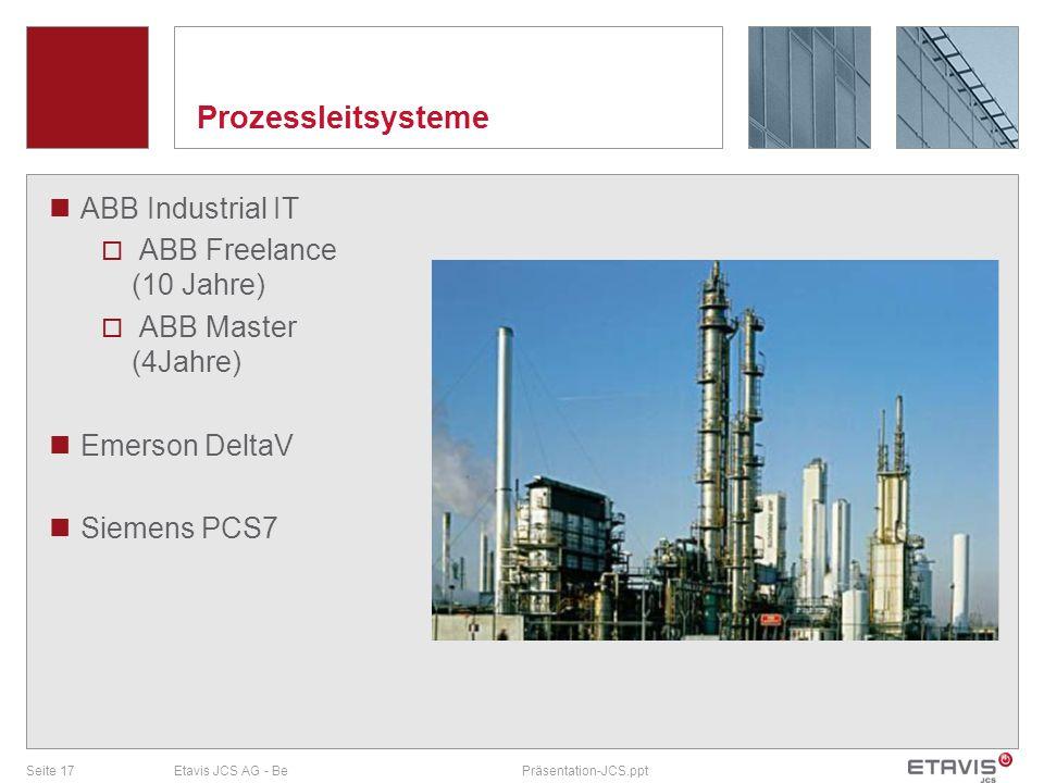 Prozessleitsysteme ABB Industrial IT ABB Freelance (10 Jahre)
