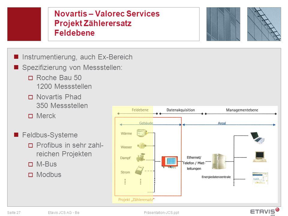 Novartis – Valorec Services Projekt Zählerersatz Feldebene