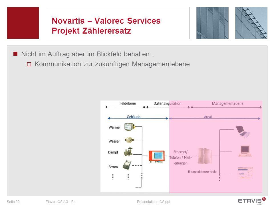Novartis – Valorec Services Projekt Zählerersatz